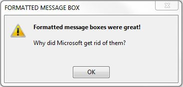 Fancy Message Box